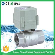 Válvula de controle de fluxo de água elétrica Dn25 AC230V em aço inoxidável
