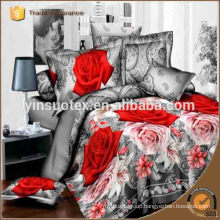 sumptuous rose 3D printed bedding set