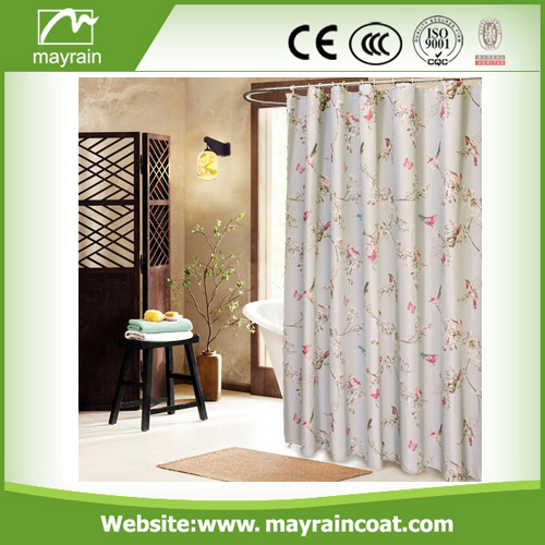 Plain Fabric Shower Curtain