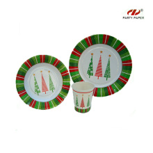 Christmas Party Theme Paper Tableware Set