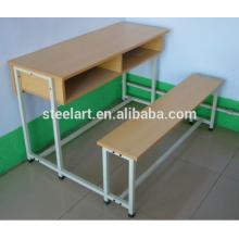 bureau d'étudiant de meubles d'école et banc