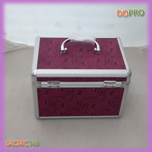 Fuchsia Printing Surface Small Aluminum Makeup Vanity Box (SACMC146)