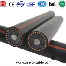 15kv 1-core Aluminium conductor XLPE insulation and PE over sheath power cable