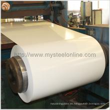 Whiteboard Acero Usado Bobina Prepainted Galvalume de acero con 0,4 mm de espesor y 1220 mm de ancho