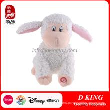 Brinquedos eletrônicos dos carneiros de Liftlike do luxuoso branco para crianças