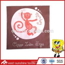 Custom microfiner ткань для чистки очков, bluk custom logo печатная чистящая ткань