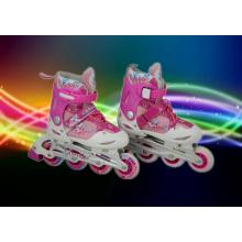 Pink PU Wheels Carton Kids Inline Skate