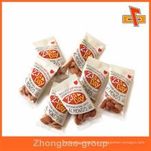 Transparente pequeno lado traseiro calor selo saco plástico flat nuts para embalagens de amêndoas
