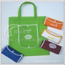 Sac non tissé pliable, sac à provisions, sac de recyclage (KG-NB011)