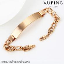 74491-Xuping neues Design und heißer Verkauf Mann Armband mit 18 Karat vergoldet