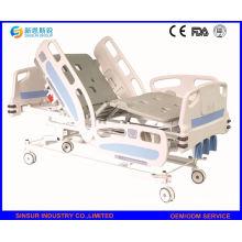 China-Qualitäts-manuelles Kurbel-3-Funktions-justierbares Patienten-Krankenhaus-Bett