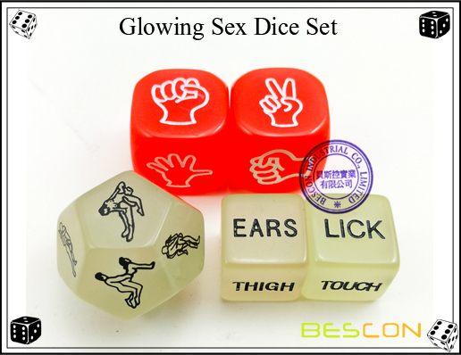 Glowing Sex Dice Set-6