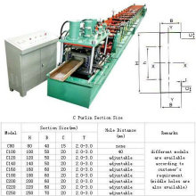 C-Profil-Walzenformmaschine für den Bau