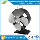 4 big Blade high airflow Heat Powered Wood Burner Gas Stove Coal Fire stove fan