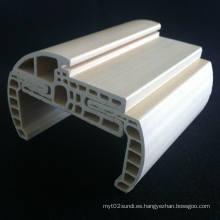 Marco de puerta Arc WPC Df-90h43 + Architrave WPC at-60h18 Combinación fuerte y duradero