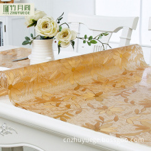 Professional Anti-hot Dining Clear Pvc Plastic Waterproof Wool Table Cloth Weight