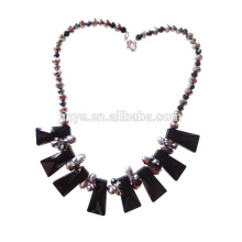 Fashion Black Crystatl Statement Necklace For Party or Show