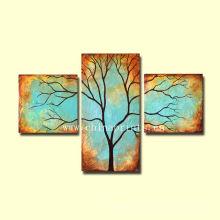 Pintura al óleo hecha a mano del árbol de Diy para el dormitorio
