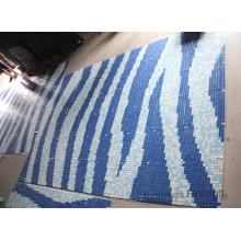 Glass Mosaic Pattern Design Swimming Pool Mosaic (HMP709)