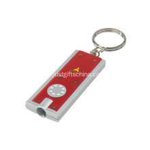 Promotional Led ficklampa Keychain W / Logo