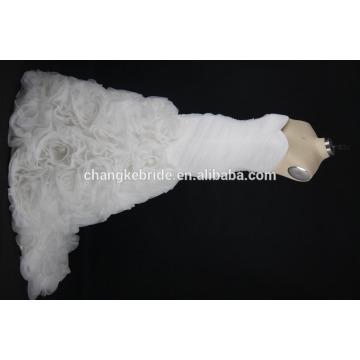 Новое прибытие ткань шнурка белых женщин свадебные платья
