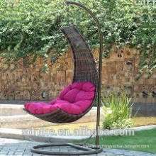 indoor hanging chairs with comfortable cushion for rattan chair +garden rattan swing +hanging chairs for bedrooms