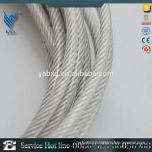 Échantillon gratuit ss316 câble en acier inoxydable 7 * 19 fabricant de porcelaine