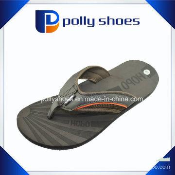 Mens Flip Flop Sandals Size 13 Beach Thong Black Leather