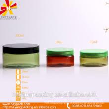 Translúcido pet jar com parafuso tampas