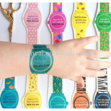 El último diseño del reloj de varios colores patern personalizó la etiqueta engomada del tatuaje 3D