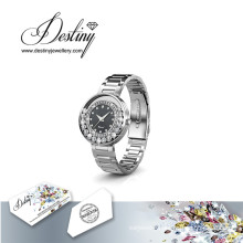 Destiny Jewellery Crystal From Swarovski Classic Leather Watch