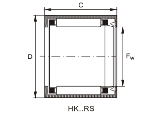 Needle Bearing With Eing HK-RS Series