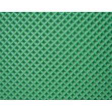 Cinta transportadora de PVC verde con patrón de diamante
