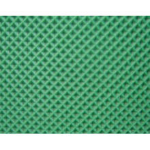 Green PVC Conveyor Belt with Diamond Pattern