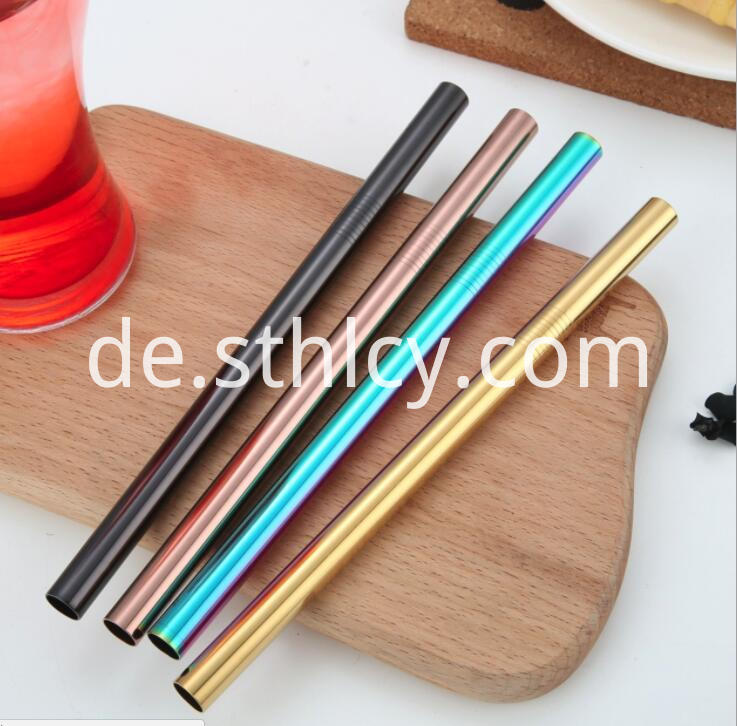 Stainless Steel Straw Rose Gold