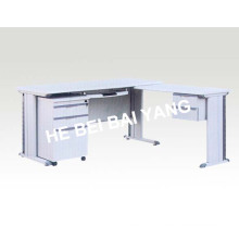 (C-71) White Color Bureau with Wooden material