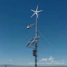 Luces de fábrica de sistemas de generación de energía eólica y solar