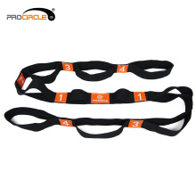 "Flexible 1.6"" Multiple Grip Loops Stretching Cotton Yoga Strap"