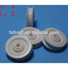 Rodas duráveis da polia do sulco cerâmico para a maquinaria de matéria têxtil