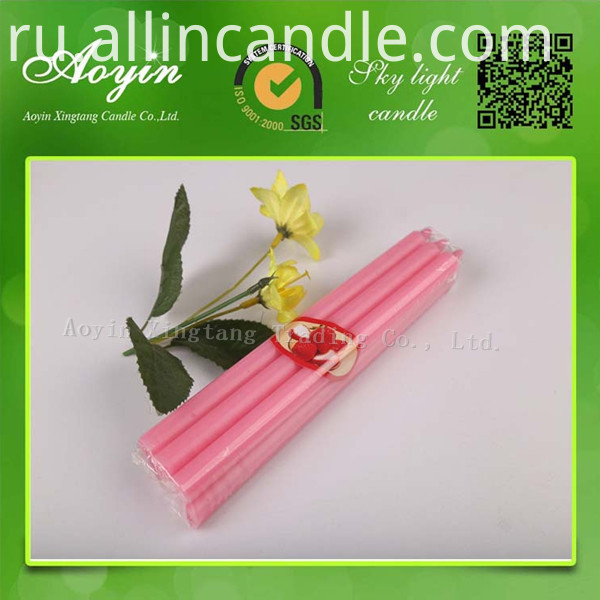 pink color candle