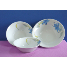 Fuente china que imprime el uso profundo del cuenco de ensalada de la porcelana para el hogar / el restaurante / el hotel