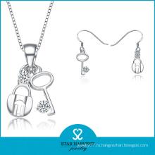 Мода Южной Америки Серебряный набор ювелирных изделий OEM принято (J-0146)