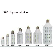 Вращение 360 градусов светодиодные кукурузы света