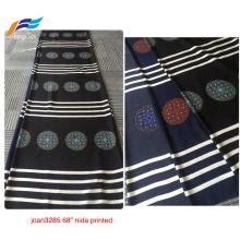 Tela Abaya negra formal de impresión digital Nida coreana