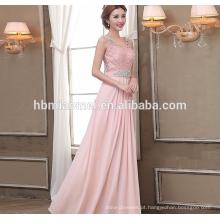 junoesque chão comprimento da dama de honra vestido de renda vestido de noite