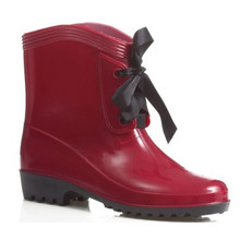 botas de chuva de trabalho moda senhoras cunha sapatos B-813