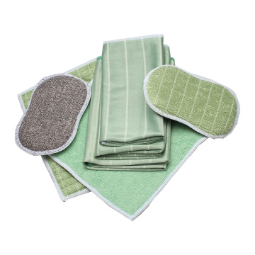Friendly Recyclable Bamboo Fiber Cleaning Set
