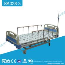 Lit d'hôpital multifonctionnel en métal de manivelle d'hôpital de SK028-3