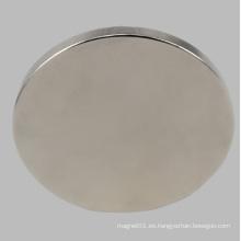 Disco de imán de neodimio permanente Disco NdFeB para sensor de motor de altavoz con niquelado