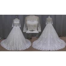 Real de la muestra de la boda vestido de novia árabe